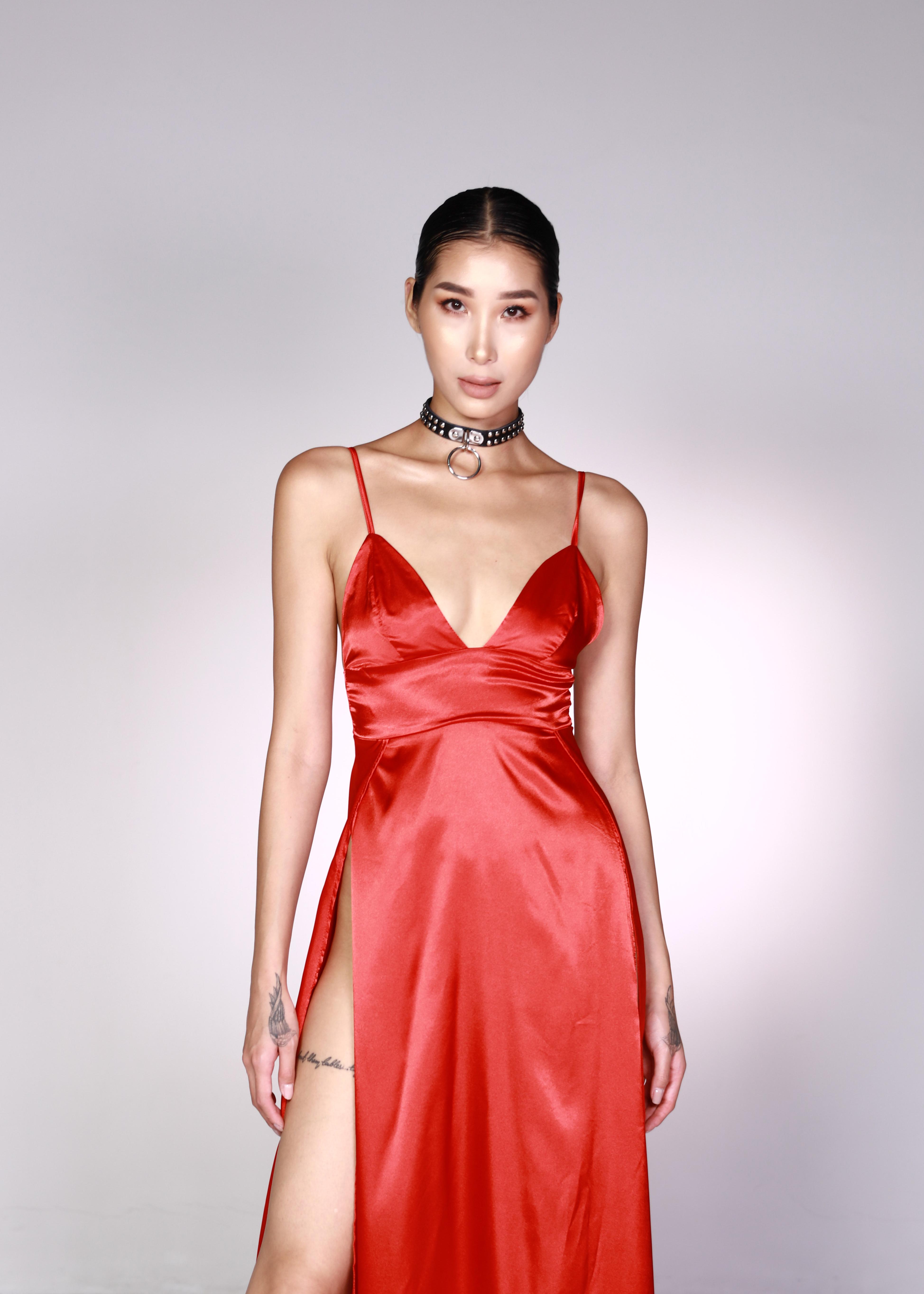 870c9eeac63 Wine Red V Neck Prom Dress - Studio Saru
